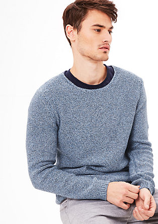 Melange knit jumper from s.Oliver