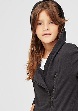 Melange long sweatshirt jacket from s.Oliver