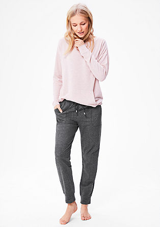 Melange loungewear trousers from s.Oliver