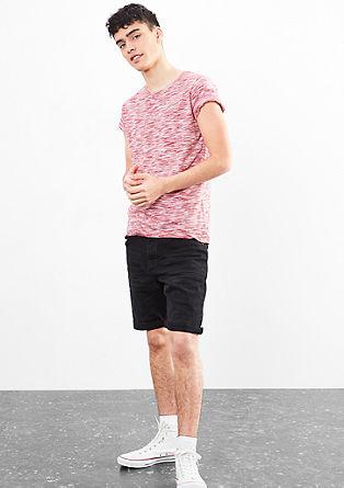 Melange-Shirt aus Jersey