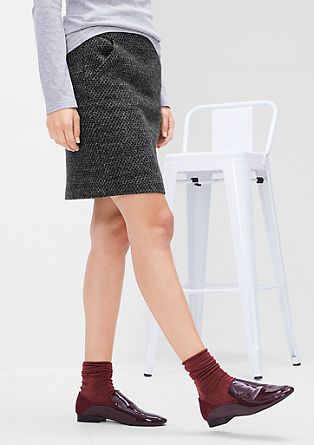 Melange skirt in blended wool from s.Oliver