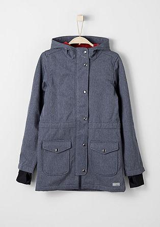 Melange softshell coat from s.Oliver