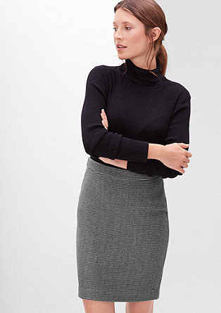 Melange sweat skirt with horizontal ribs from s.Oliver