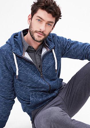 Melange sweatshirt jacket from s.Oliver