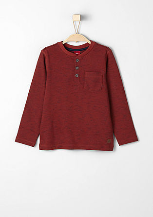 Melange sweatshirt with stitching from s.Oliver