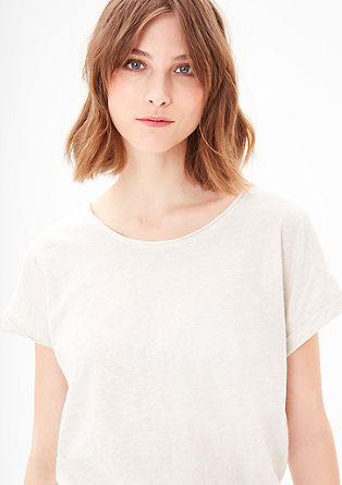 Melange T-shirt with batwing sleeves from s.Oliver