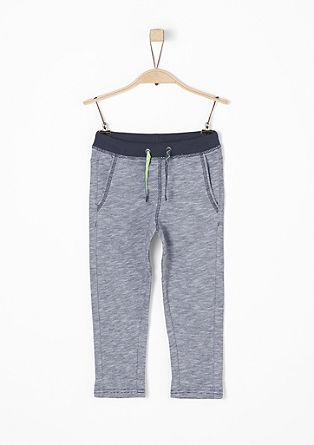 Melierte Jogging Pants mit Print