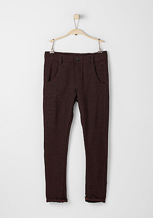 Melierte Jogging-Pants