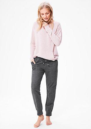 Melierte Loungewear-Hose