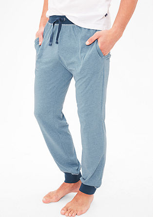 Melierte Pyjamahose aus Jersey