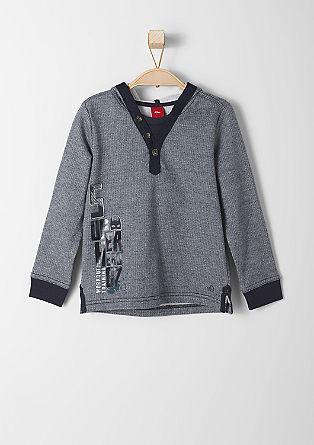 Melierter Kapuzen-Sweater