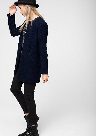 Melierter Mantel mit Woll-Anteil