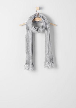 Melierter Schal mit Fransen