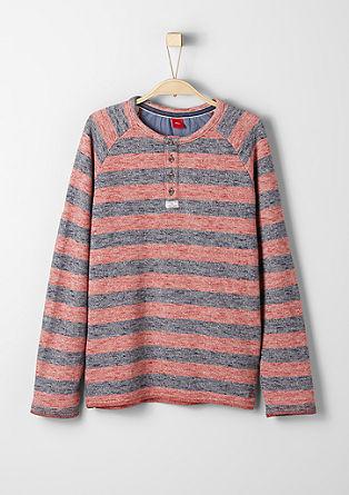 Melierter Streifen-Sweater