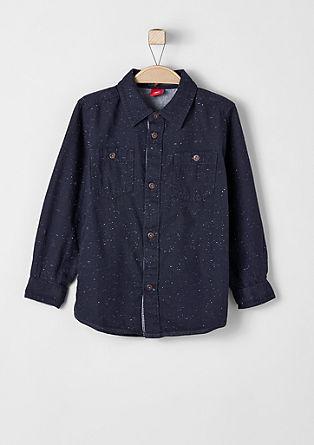 Meliertes Baumwollhemd