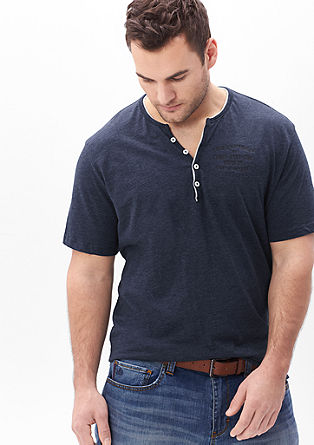 Meliertes Henleyshirt