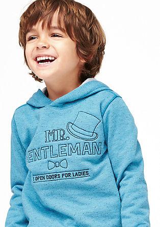 Meliertes Kapuzensweatshirt