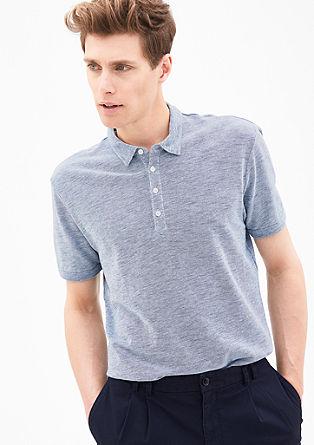 Meliertes Piqué-Poloshirt