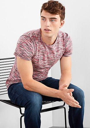 Meliertes Shirt im Flammgarn-Style