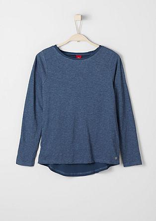 Meliertes Shirt im Lagen-Look