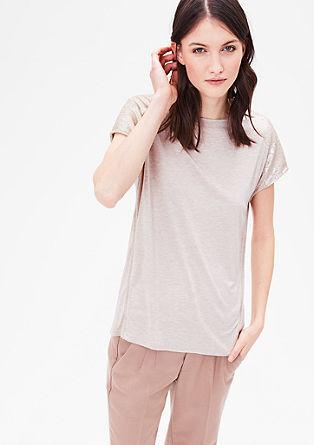 Meliertes Shirt mit Pailletten