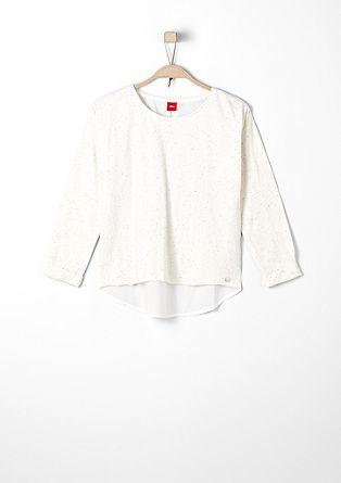 Meliertes Shirt mit Pünktchen