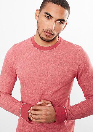 Meliertes Sweatshirt mit Bündchen