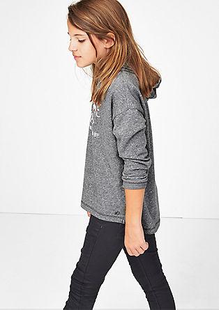 meliertes Sweatshirt mit Stitching