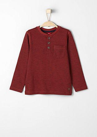 Meliertes Sweatshirt mit Stitchings
