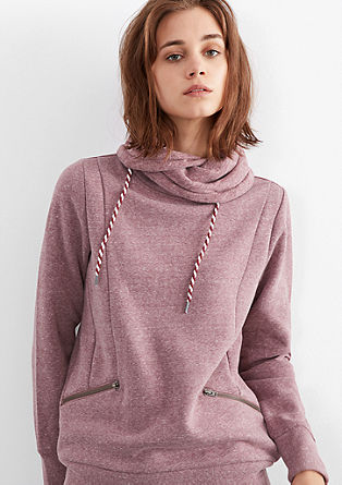 Meliertes Sweatshirt mit Turtleneck