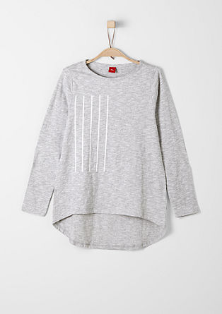 Meliertes Vokuhila-Shirt