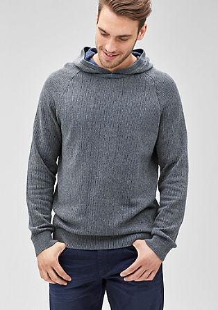 Meliran pleten pulover s kapuco
