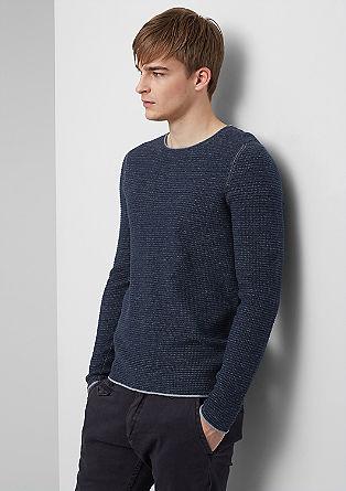 Meliran pulover iz strukturne pletenine