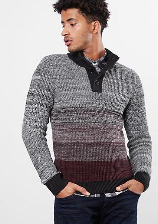 Meliran pulover s prehajanjem barv