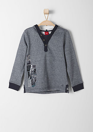 Meliran športni pulover s kapuco
