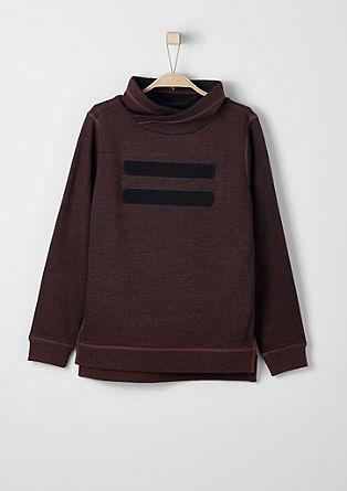 Meliran sweatshirt pulover s širšim puli ovratnikom