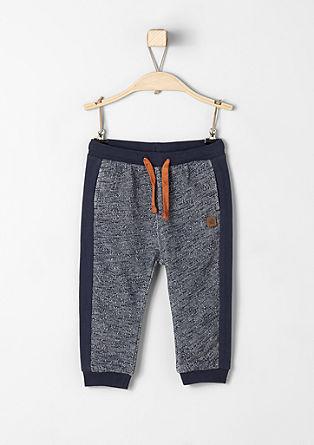 melirane športne hlače s kontrasti