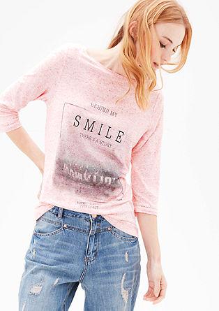 Melírované tričko s fotopotiskem