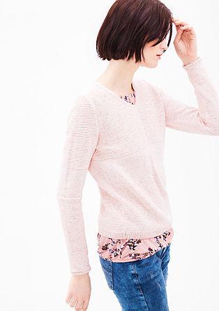 Melírovaný pletený pulovr