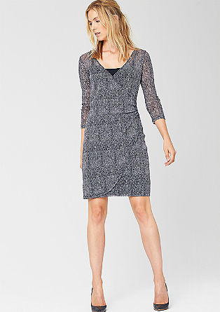 Mesh dress in a wrap-over look from s.Oliver