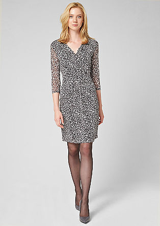 Mesh dress with a leopard print from s.Oliver