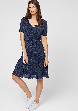 Mesh dress with a printed pattern from s.Oliver