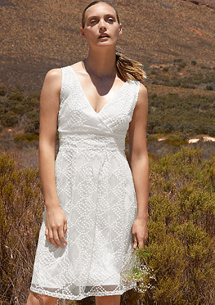 Mesh dress with cache coeur neckline from s.Oliver