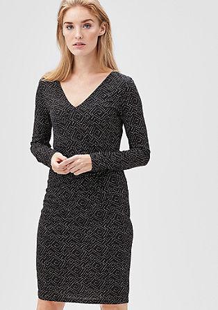 Mesh jurk met een gedrapeerd effect