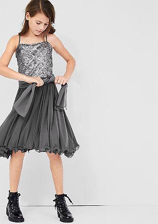 Mesh jurk met pailletjes
