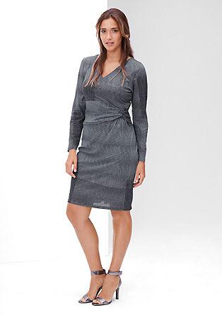 Mesh-Kleid mit Musterprint