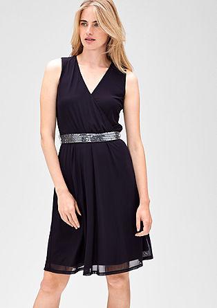 Mesh-Kleid mit Pailletten
