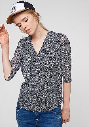 Mesh-Shirt mit Minimal-Muster