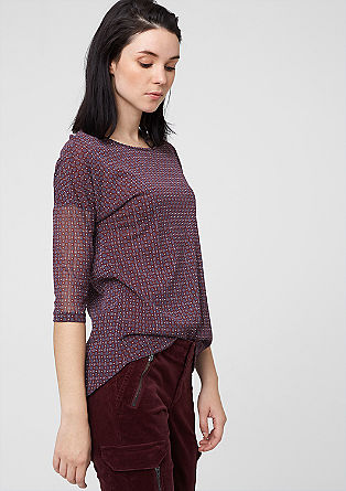 Mesh-Shirt mit Rücken-Blende