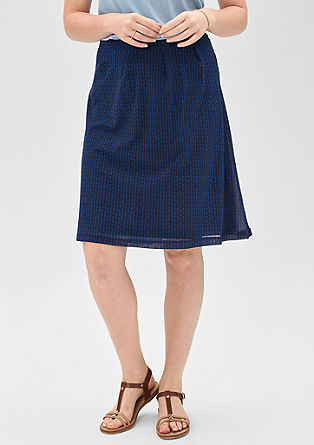 Mesh skirt with a minimalist pattern from s.Oliver
